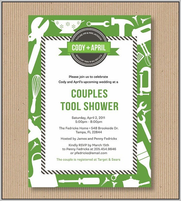 Around The House Bridal Shower Invitations