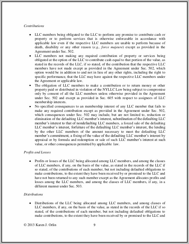 Articles Of Organization And Operating Agreement For Llc