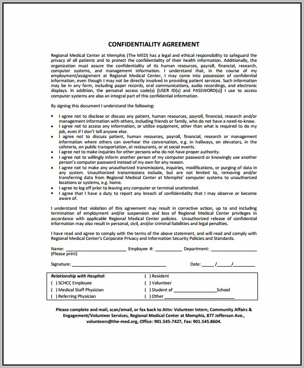 Binding Confidentiality Agreement