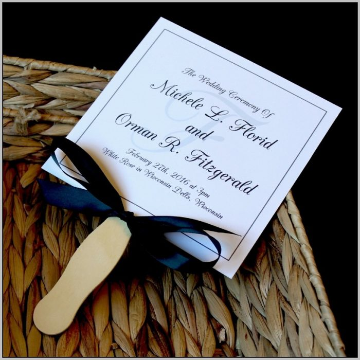 Black And White Wedding Programs