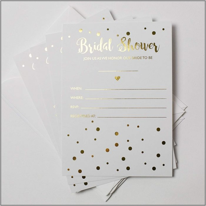 Blank Bridal Shower Invitations
