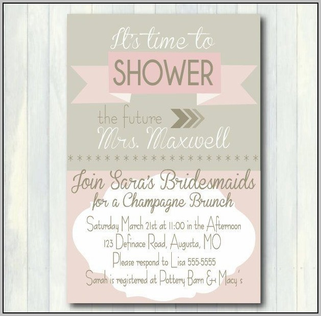 Breakfast Bridal Shower Invitations