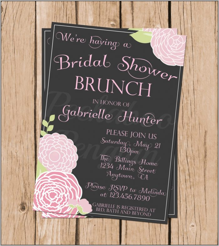 Bridal Shower Brunch Invitations