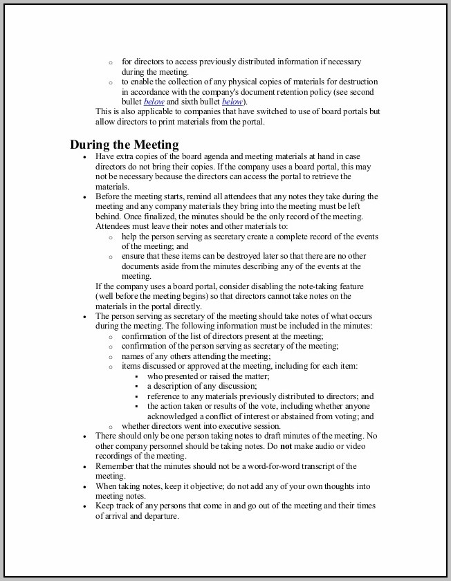 Copy Of Minutes Of Meeting