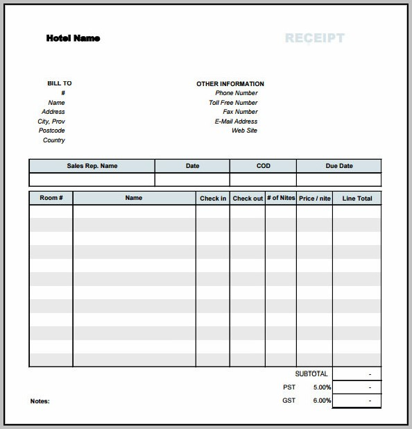 Basic Receipt Template