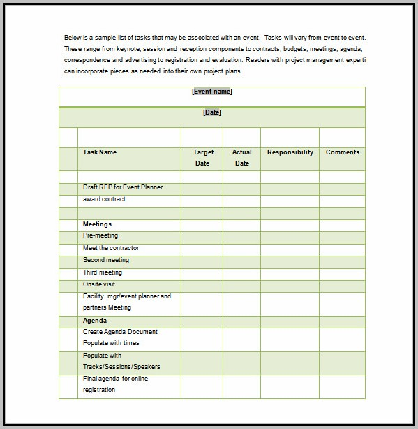 Conference Project Plan Template