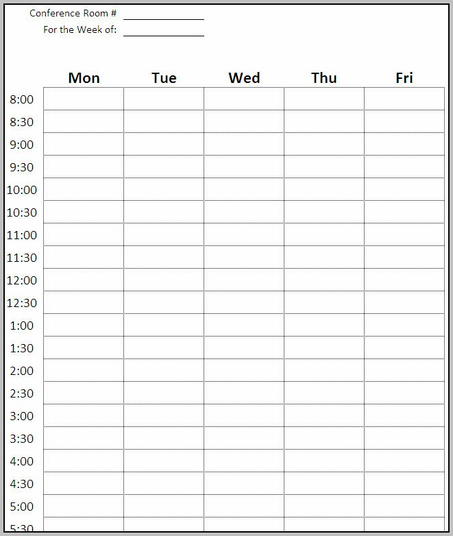 Conference Schedule Template Excel