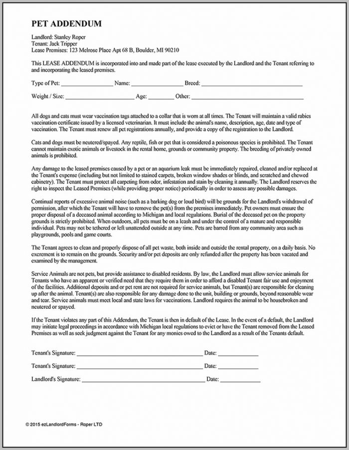 Addendum To Add Tenant To Lease
