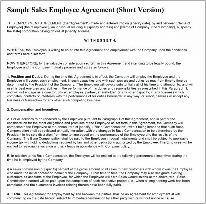 Agreement In Principle Template