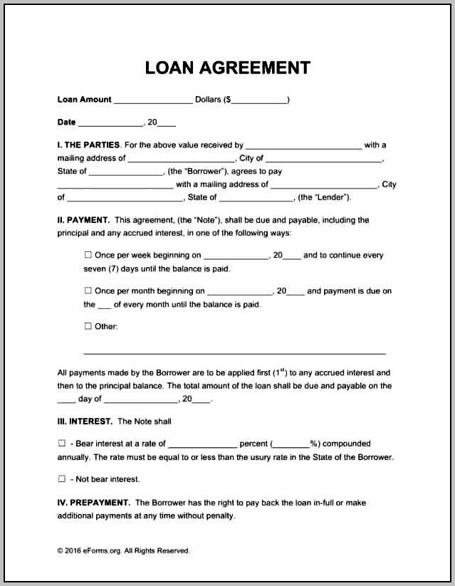 Agreement To Pay Back Money Template