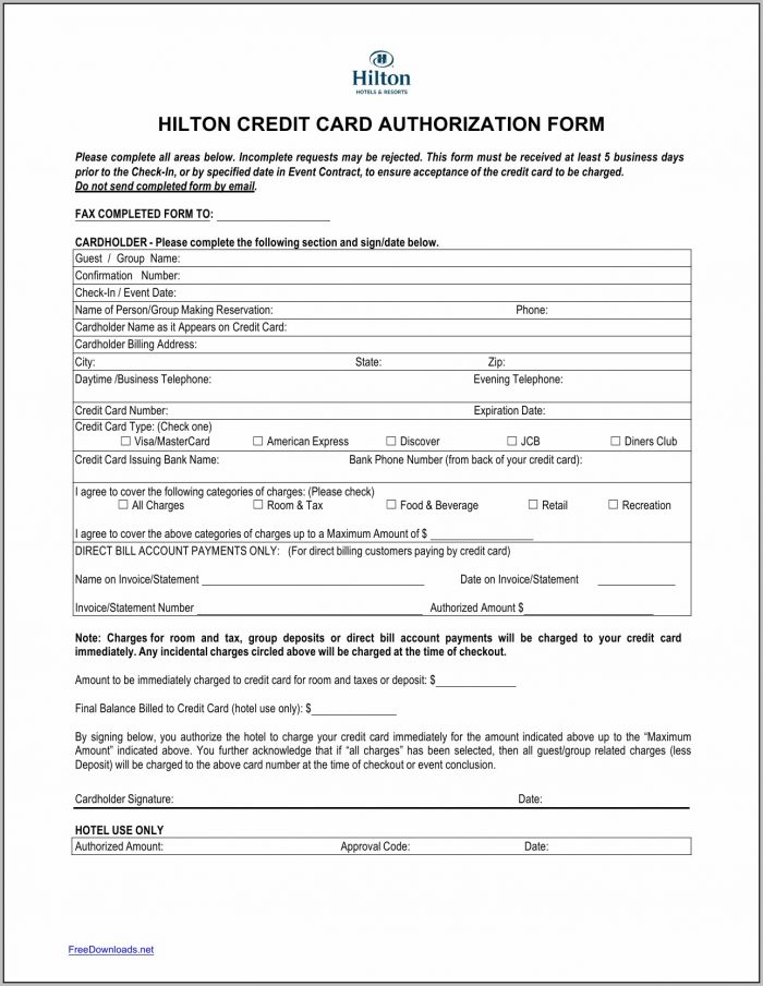 Authorization Form Template