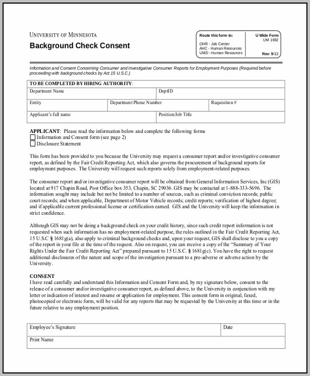 Background Check Authorization Form Sample