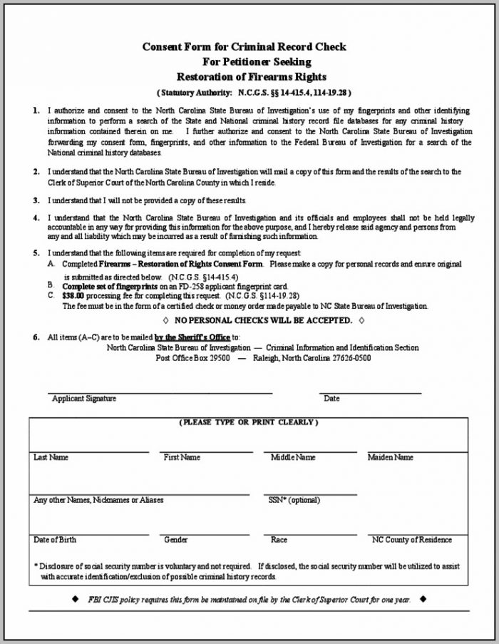 Background Check Consent Form California