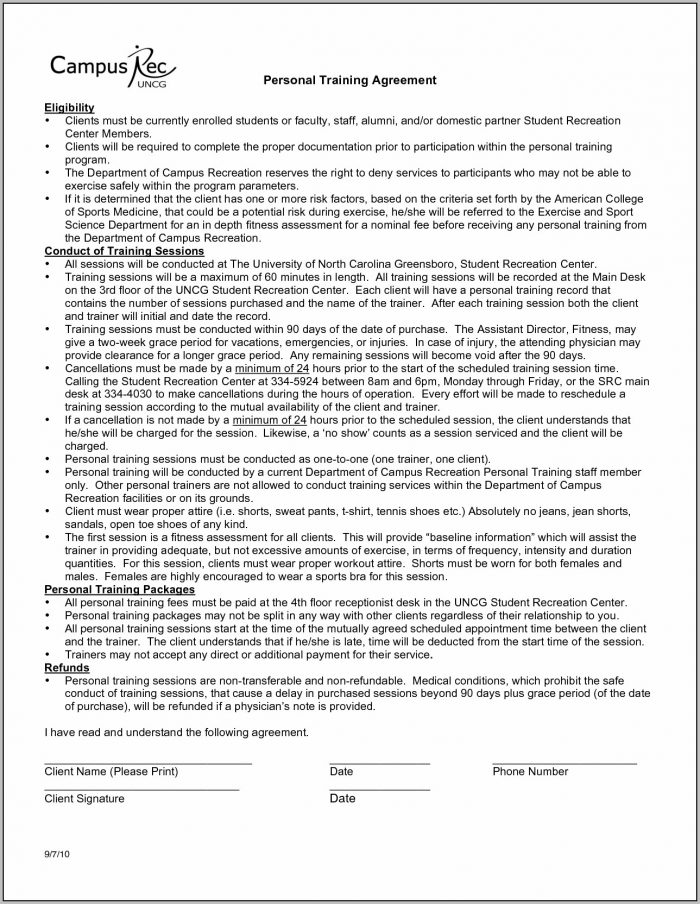 Client Contract Form