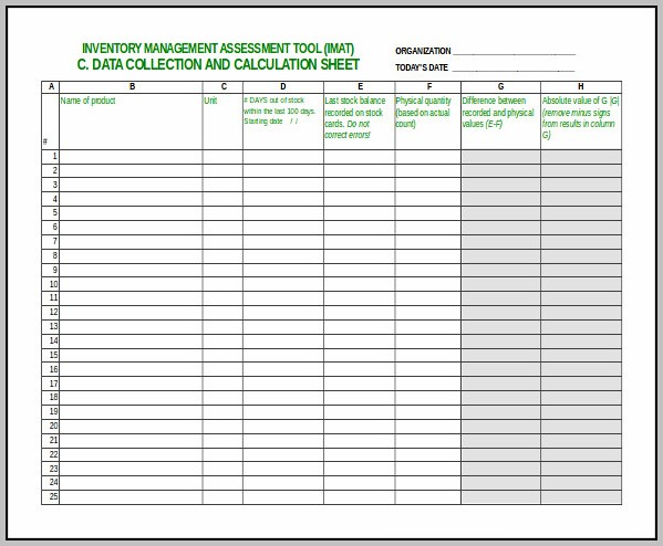 Excel Spreadsheet For Stock Control