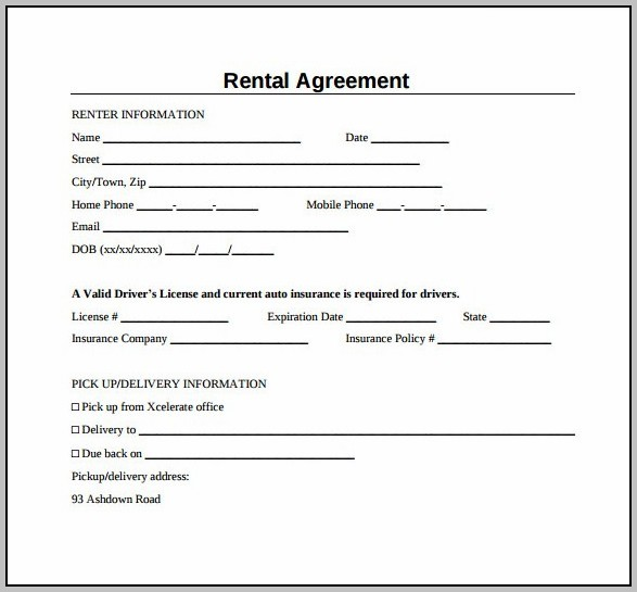 A Simple Lease Agreement