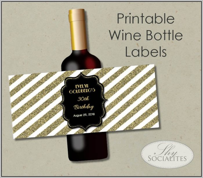 Blank Wine Labels For Printing