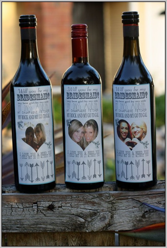 Bridesmaid Wine Bottle Labels