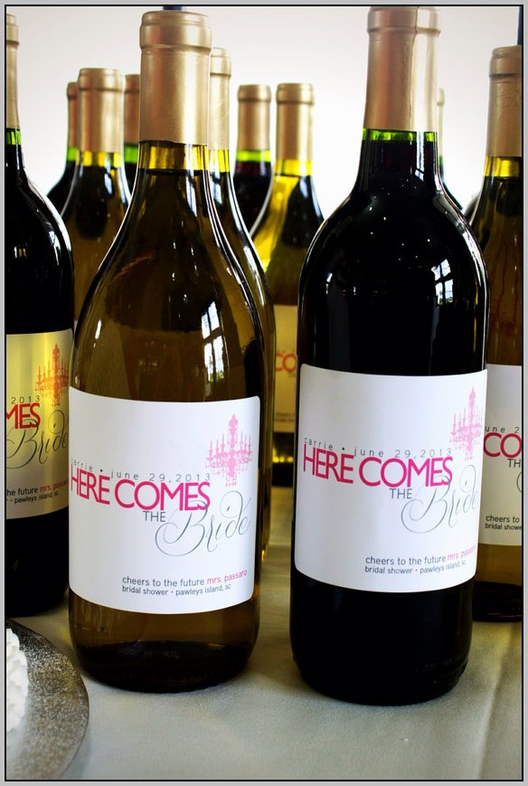 Cheap Personalized Wine Bottle Labels