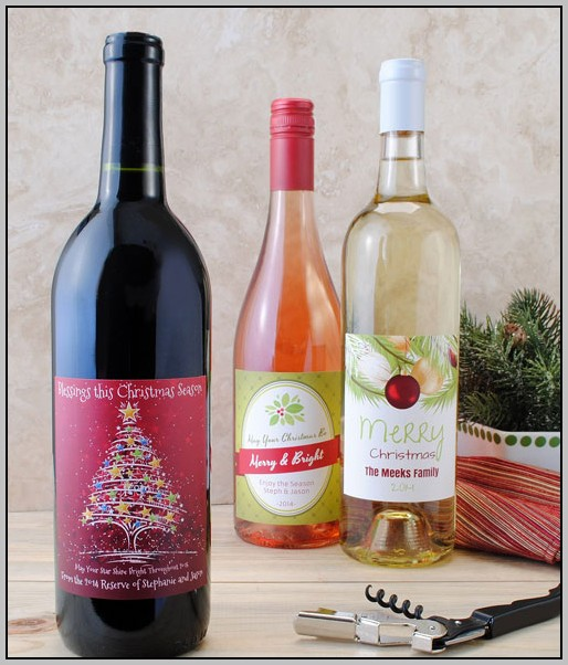 Christmas Wine Bottle Label Template