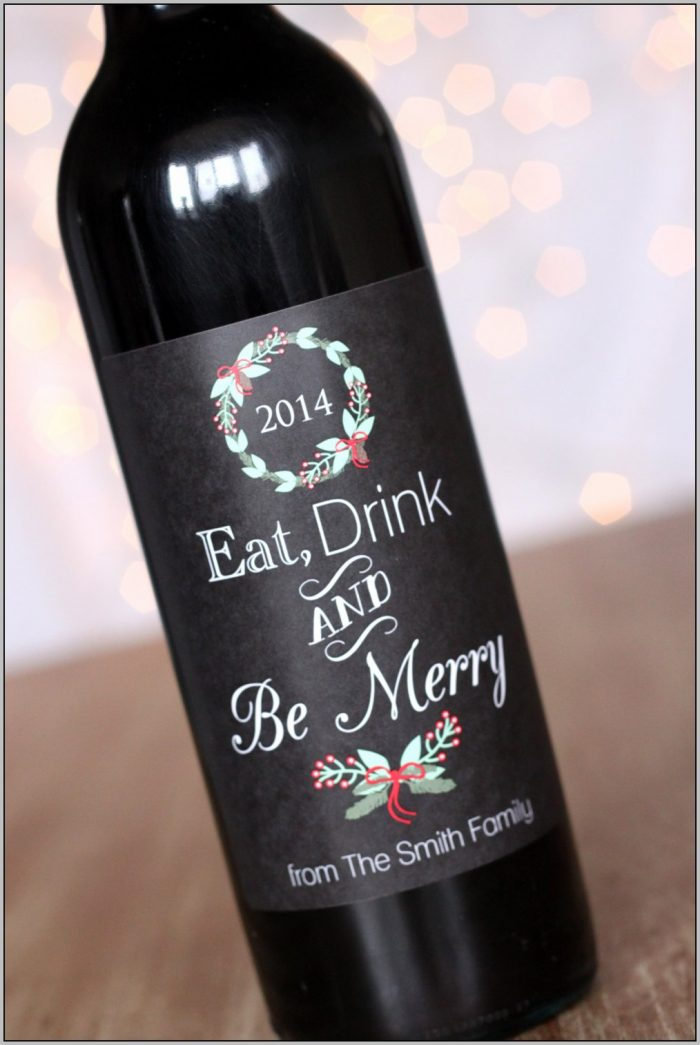 Christmas Wine Bottle Labels