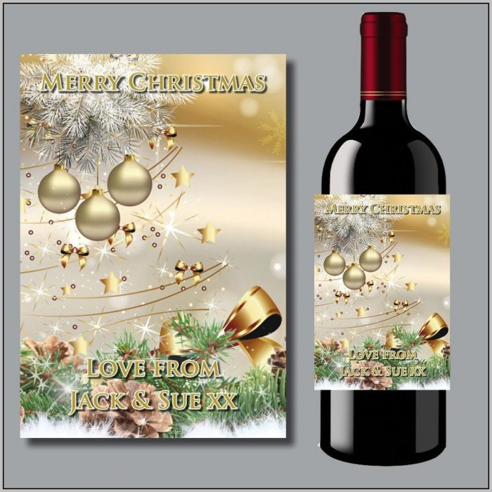 Christmas Wine Bottle Stickers