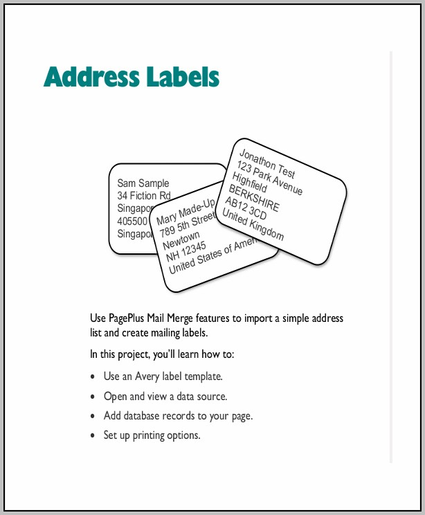 Address Label Format