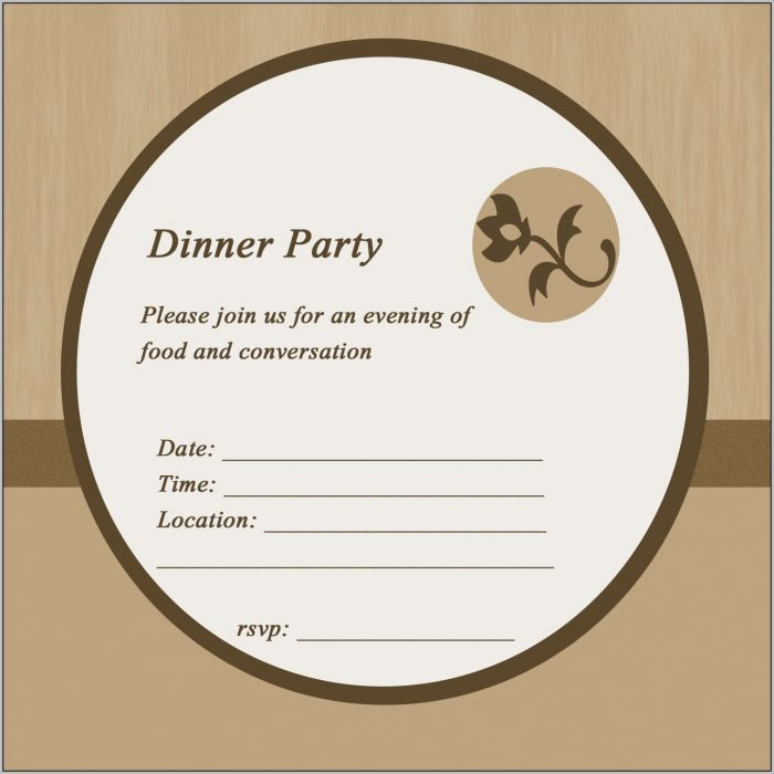Birthday Dinner Invitation Card