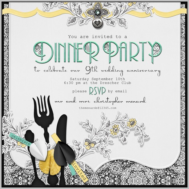 Birthday Dinner Invitation Template Free
