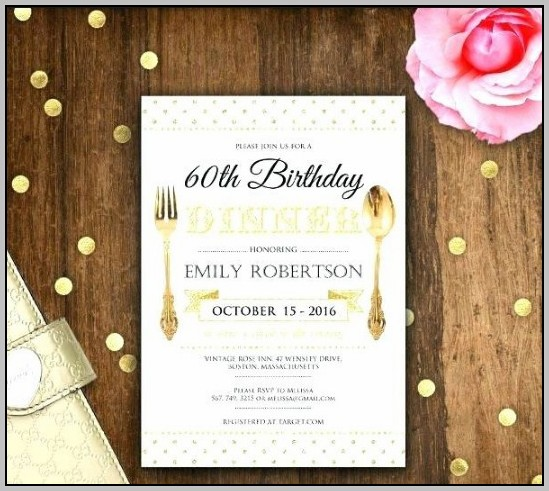 Birthday Dinner Invitation Wording