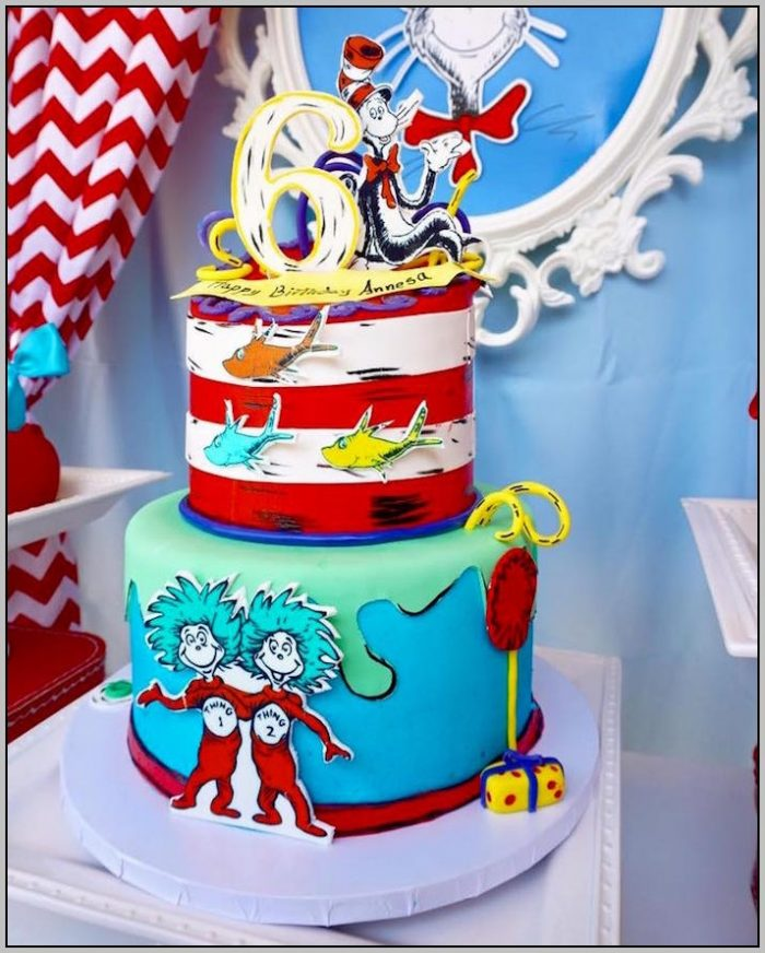 Cat In The Hat 1st Birthday Party Ideas