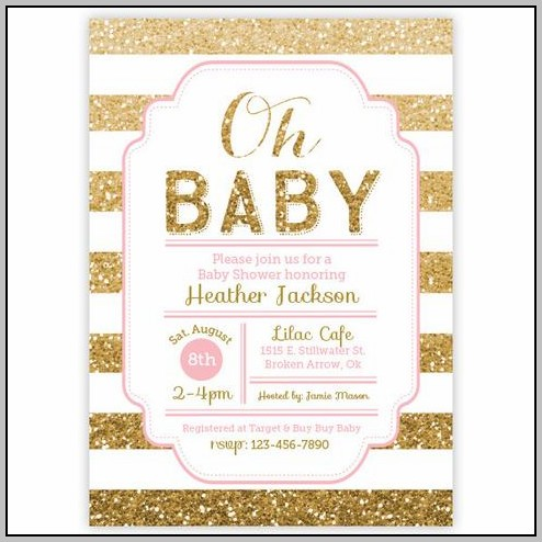 All White Baby Shower Invitations