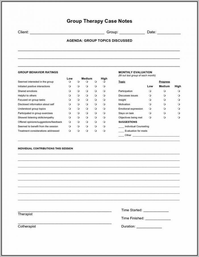 Child Psychotherapy Progress Notes Planner Pdf