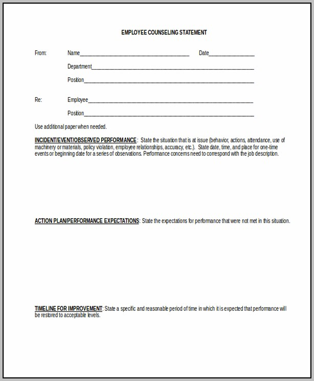 Counseling Documentation Template