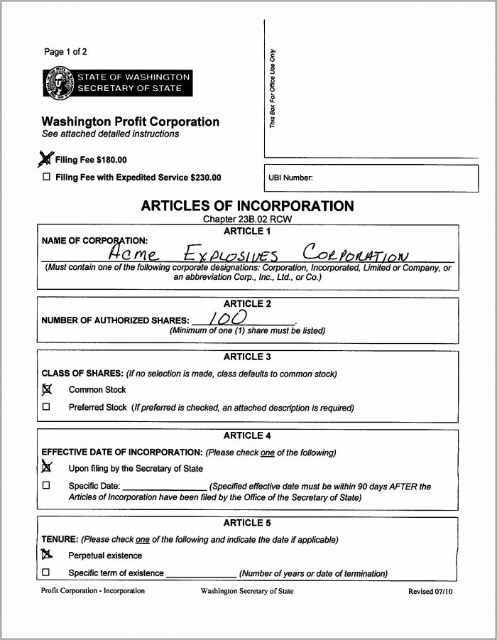 Articles Of Incorporation Template Philippines