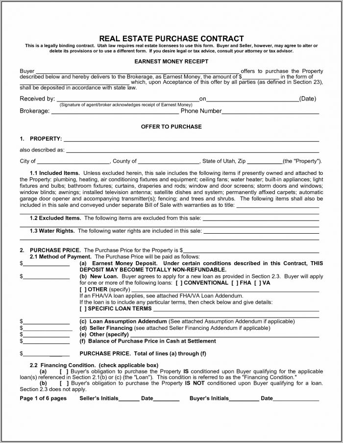 Commercial Real Estate Contract Forms For Free