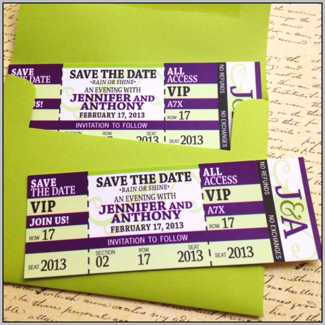 Concert Ticket Save The Date Template