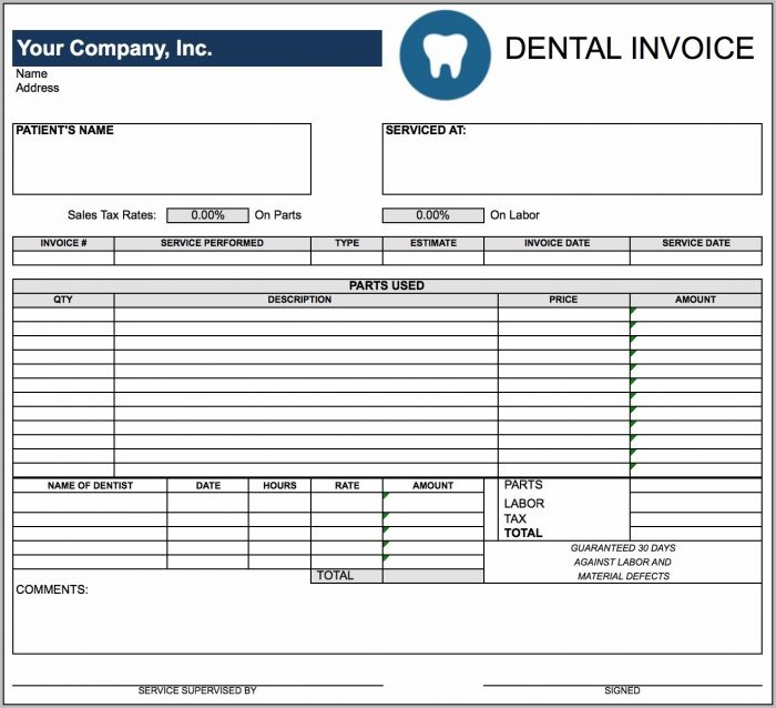 Editable Invoice Template Excel