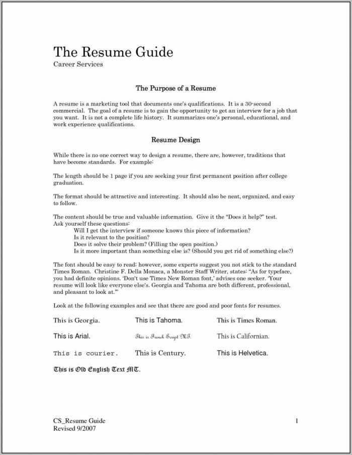 First Time Job Resume Templates