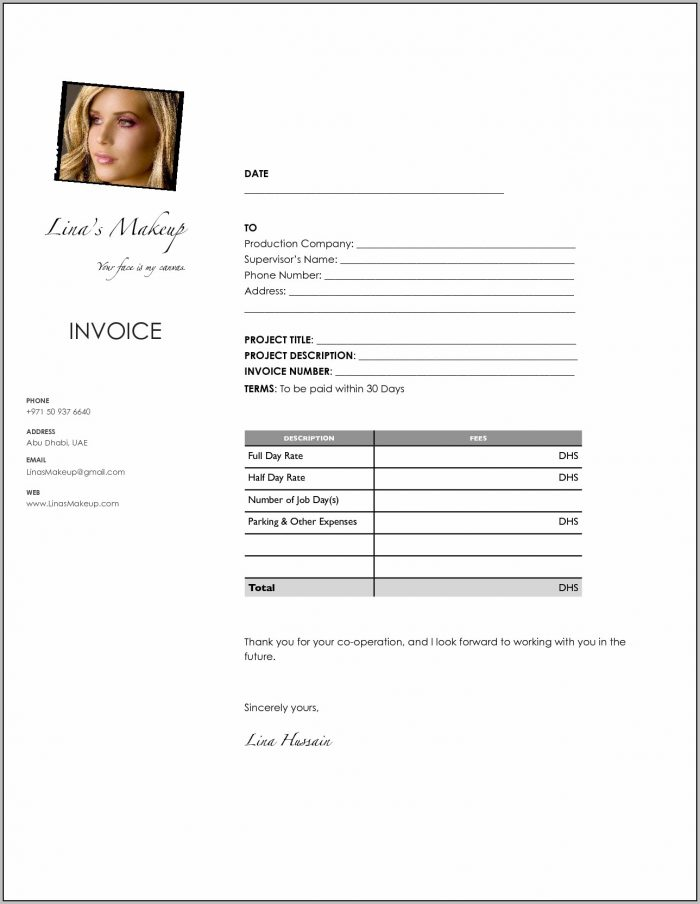 Makeup Artist Resume Templates Gallery Photos Makeup Artist Invoice Template