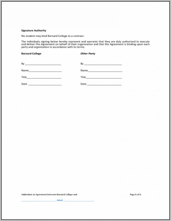 Real Estate Contract Addendum Template