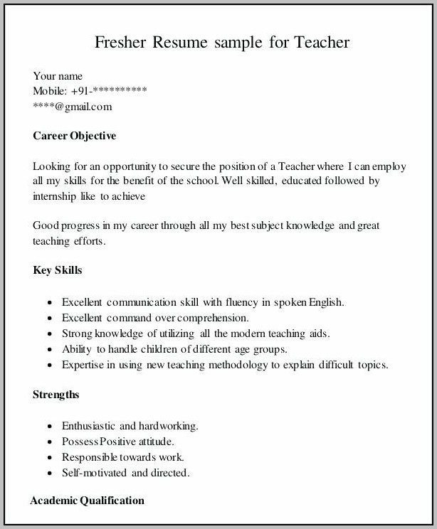Resume Templates For First Part Time Job