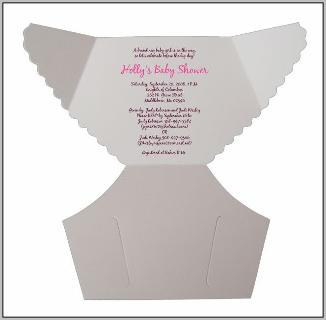 Diaper Template For Invitation