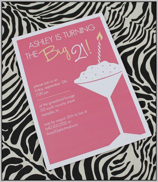 Free 21st Birthday Party Invitation Templates