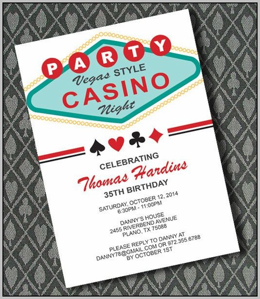 Free Las Vegas Party Invitation Templates