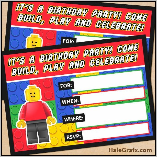 Free Lego Party Invitation Template