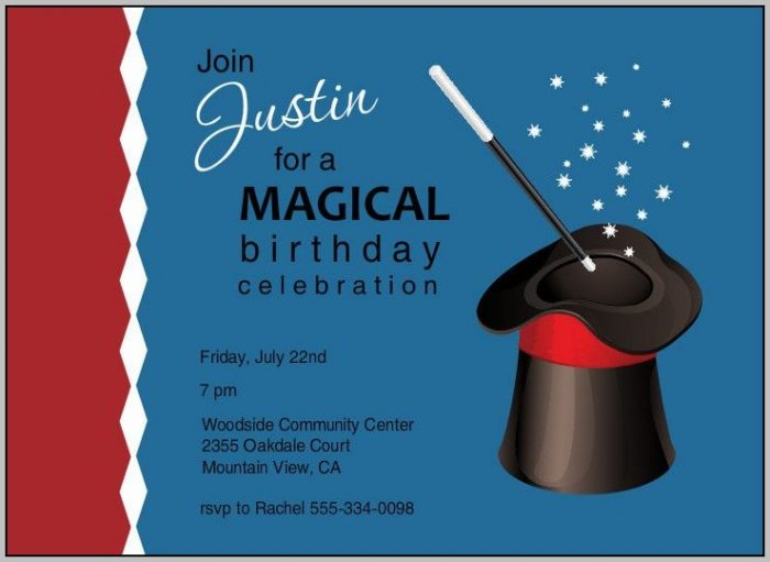 Free Magic Party Invitation Templates