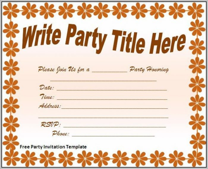 Free Party Invitation Templates Online