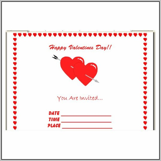 Free Valentine Party Invitation Templates