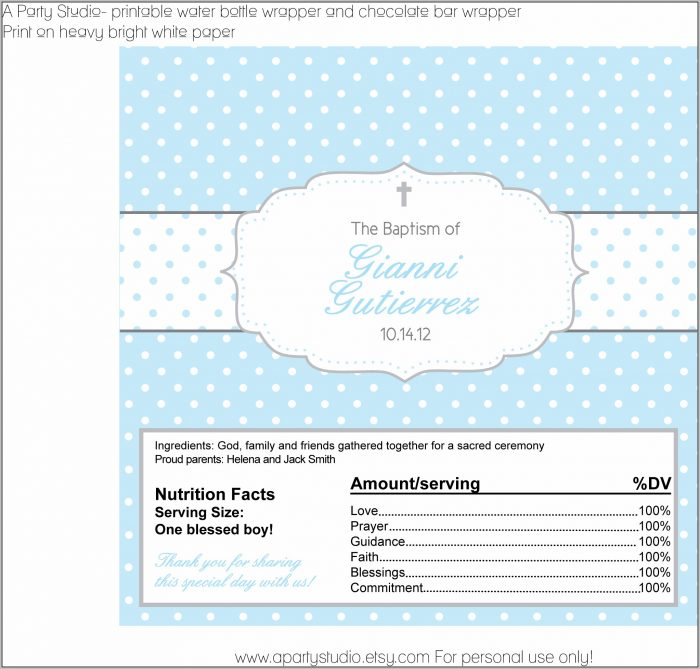 Full Size Candy Bar Wrapper Template Free